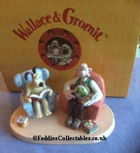 Coalport Wallace And Grommit Lets Do Something quality figurine