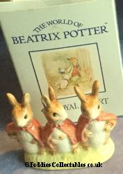 Royal Albert Beatrix Potter Floppy Mopsy And Cottontail quality figurine