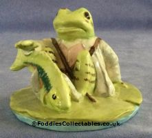 Besick Beatrix Potter Jeremy Fisher Catches A Fish quality figurine