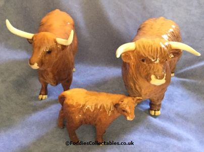 Beswick Highland Cattle Family