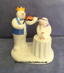 Coalport Snowman At The Party quality figurine