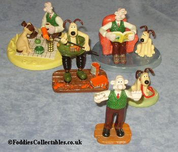 A Superb Selection Of Coalport Wallace And Gromit Figurines