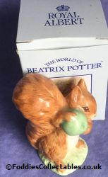 Royal Albert Beatrix Potter Potter Squirrel Nutkin quality figurine