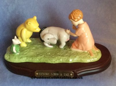 Royal Doulton Winnie The Pooh Eeyore Loses A Tail quality figurine